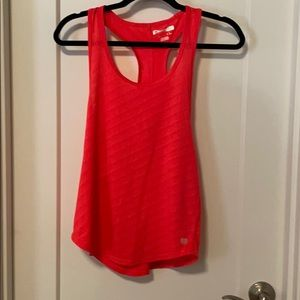 Athletic coral tank top